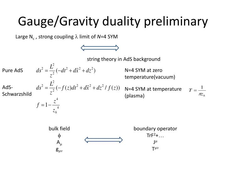 Gauge/Gravity duality preliminary