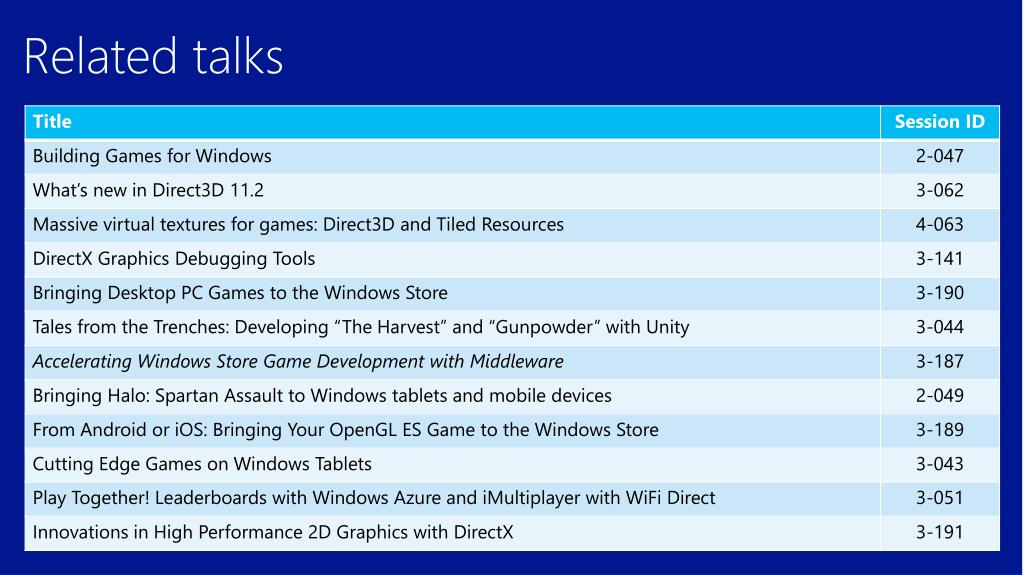 PPT - Accelerating Windows Store Game Development with Open