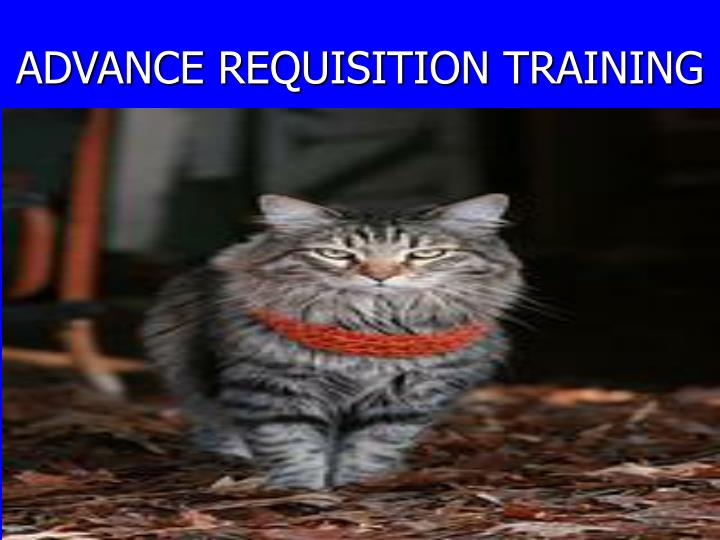 advance requisition training n.
