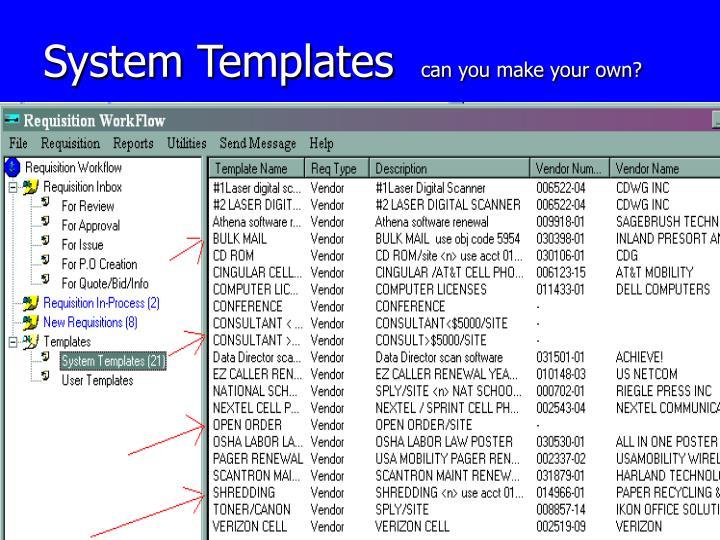 System Templates