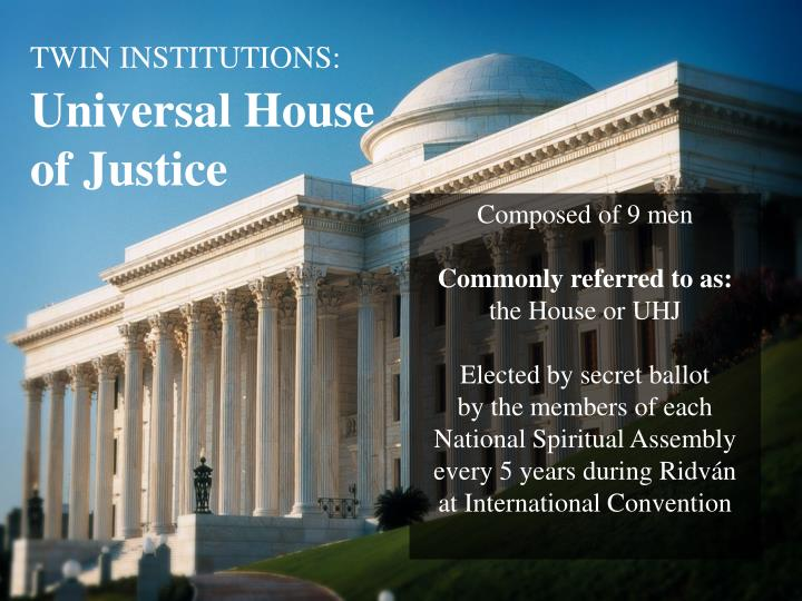 TWIN INSTITUTIONS: