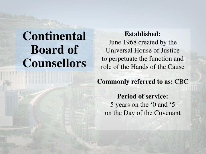 Continental Board of Counsellors