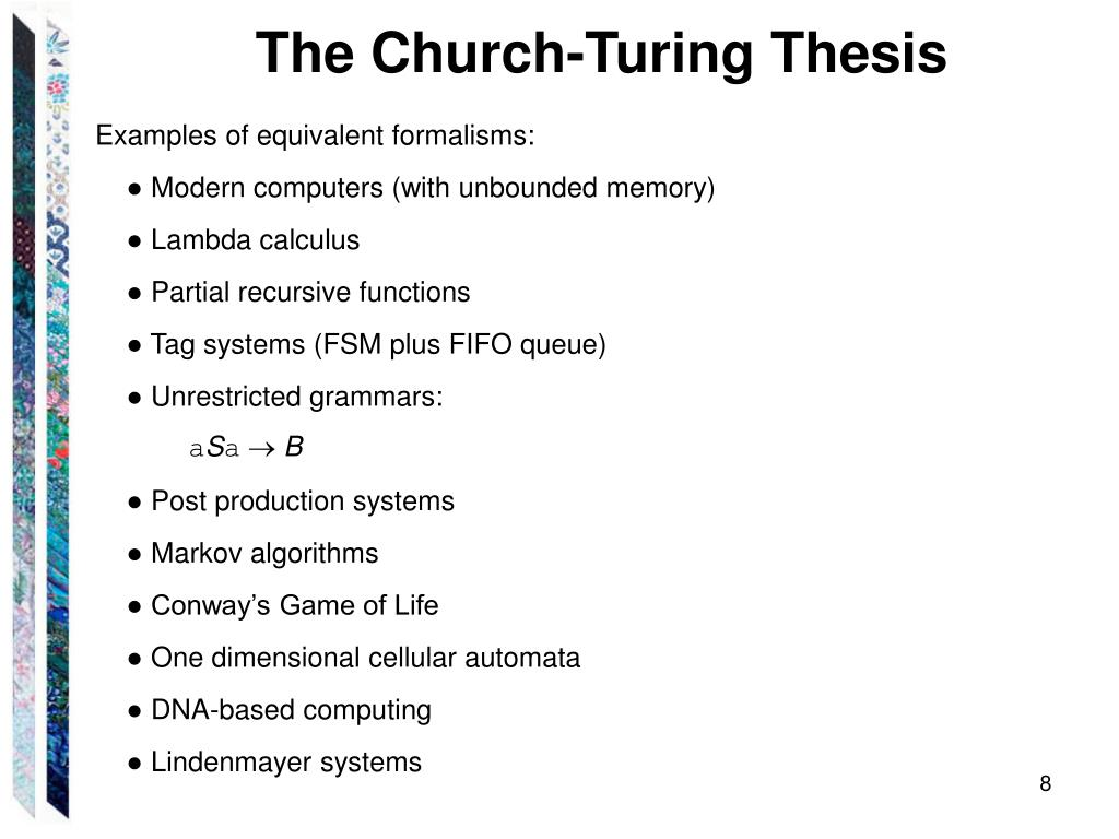 Church-turing thesis definition best university expository essay assistance