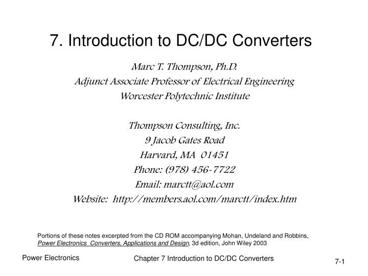 7 introduction to dc dc converters n.