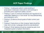 acp paper findings