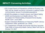 impact convening activities