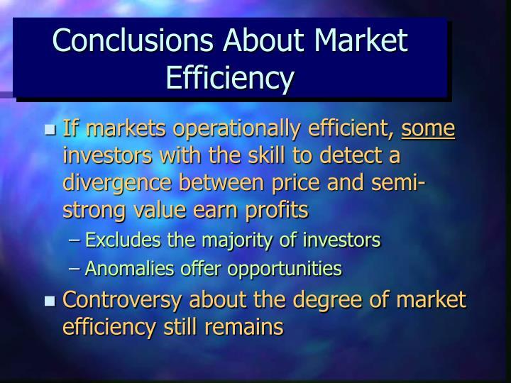 Conclusions About Market Efficiency
