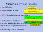 supersymmetry and inflation