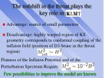 the redshift in the throat plays the key role in