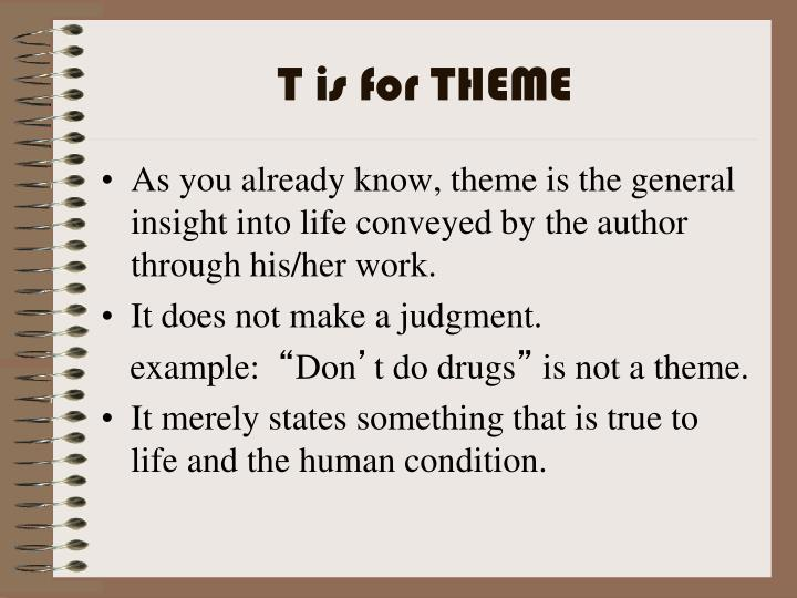 T is for THEME