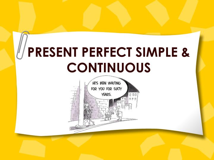 present perfect simple continuous n.