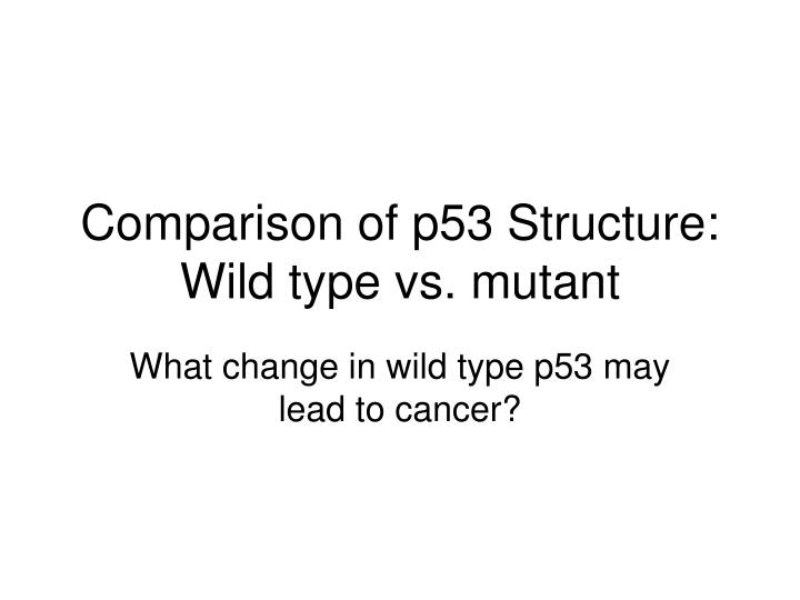 comparison of p53 structure wild type vs mutant n.