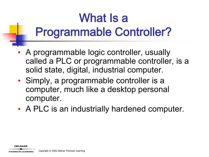 What is a programmable controller