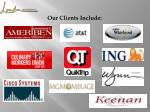 our clients include