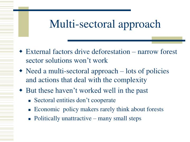 Multi-sectoral approach