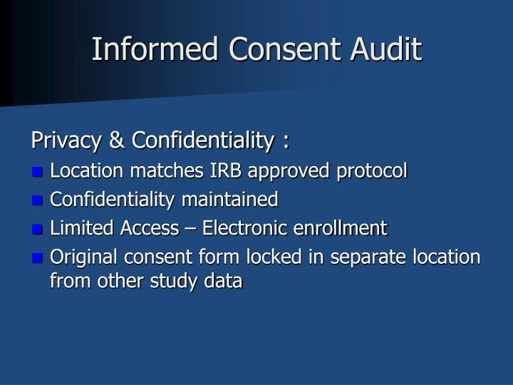 Informed Consent Audit