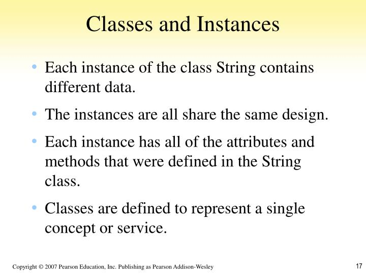 Classes and Instances