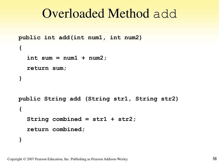 Overloaded Method