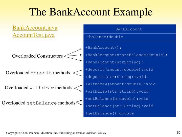 The BankAccount Example