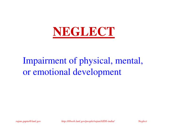 neglect n.