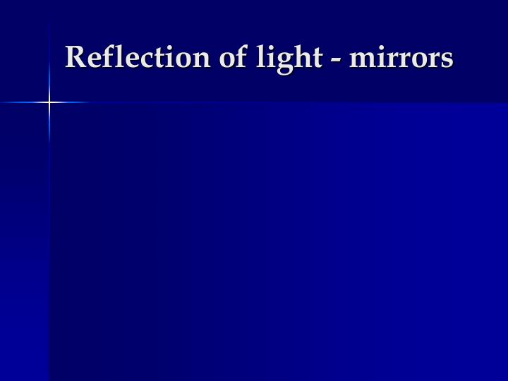 reflection of light mirrors n.