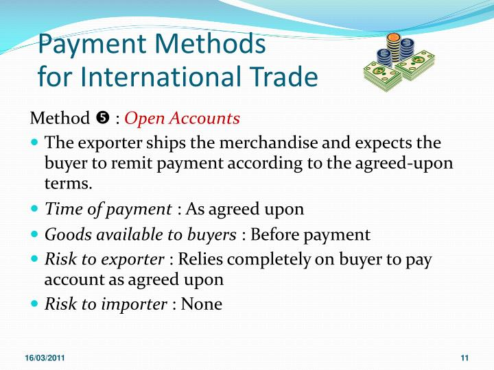 international payment methods Electronic funds transfer (debit eft): you can arrange to have payment electronically requested and automatically debited from your bank accountthis payment method can be used in conjunction with any billing and payment schedule.