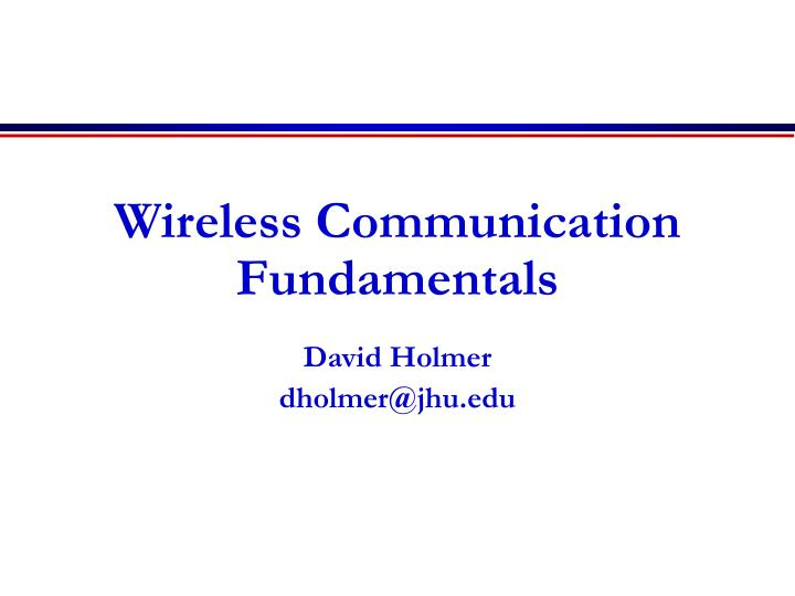 wireless communication fundamentals n.