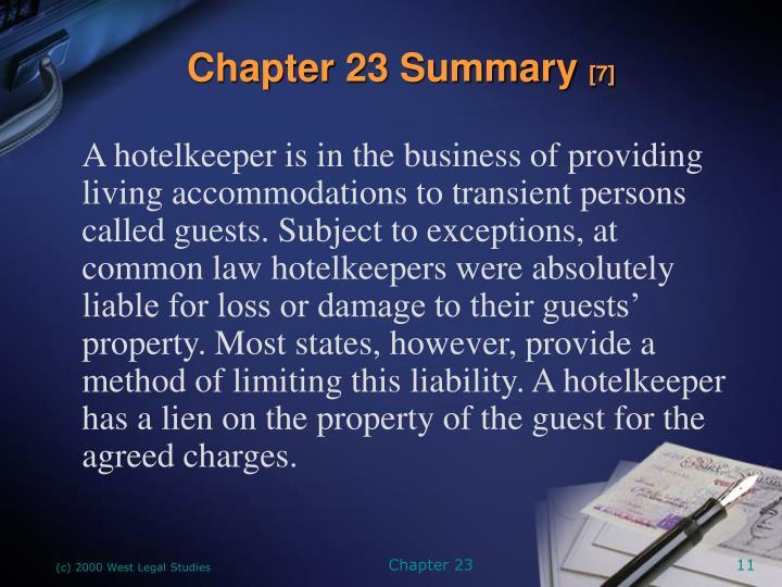 Chapter 23 Summary