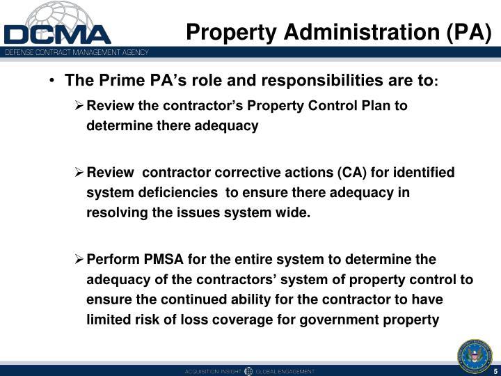 PPT - Property Administration (PA) Property Management System ...