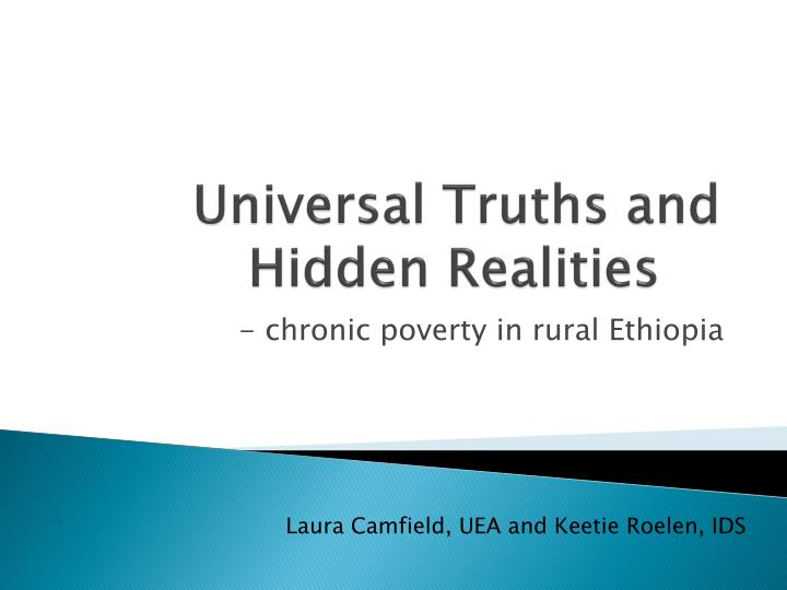 universal truths and hidden realities n.