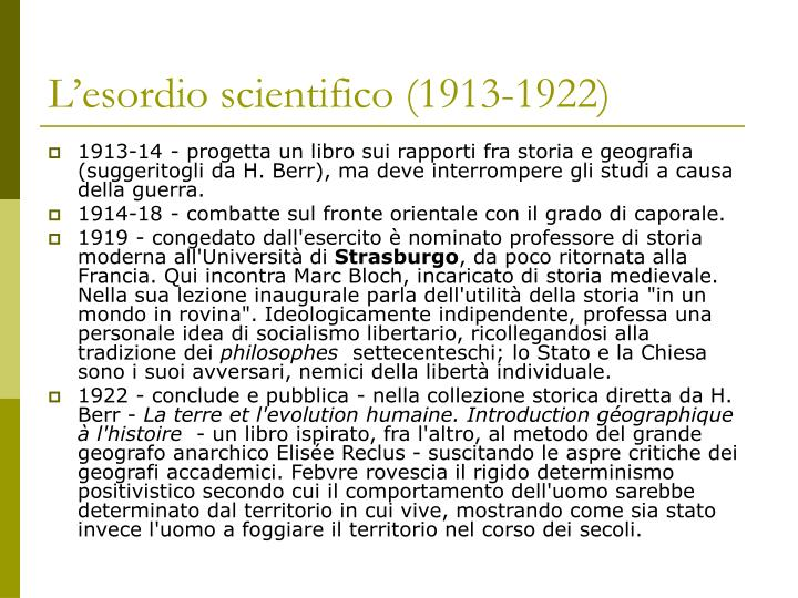 L'esordio scientifico (1913-1922)