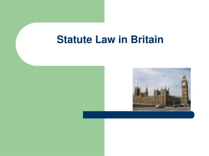 statute law in britain n.