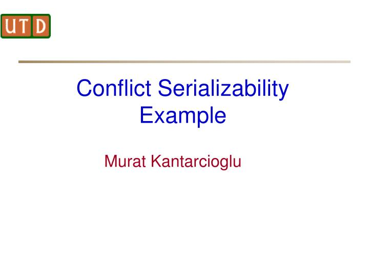 conflict serializability example n.