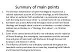 summary of main points