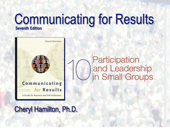 communicating for results seventh edition n.