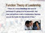 function theory of leadership