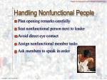 handling nonfunctional people