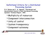 definitional criteria for a distributed processing system