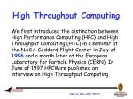high throughput computing