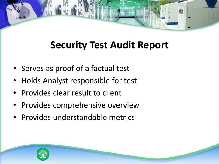 Security Test Audit Report