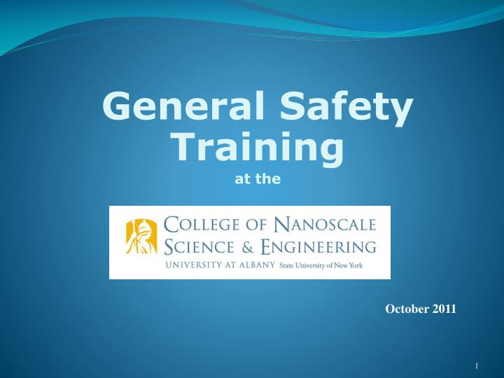 general safety training at the n.