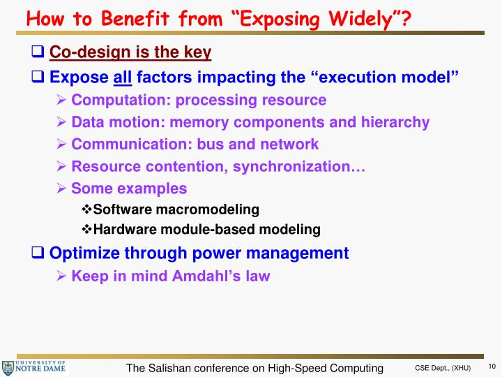 """How to Benefit from """"Exposing Widely""""?"""