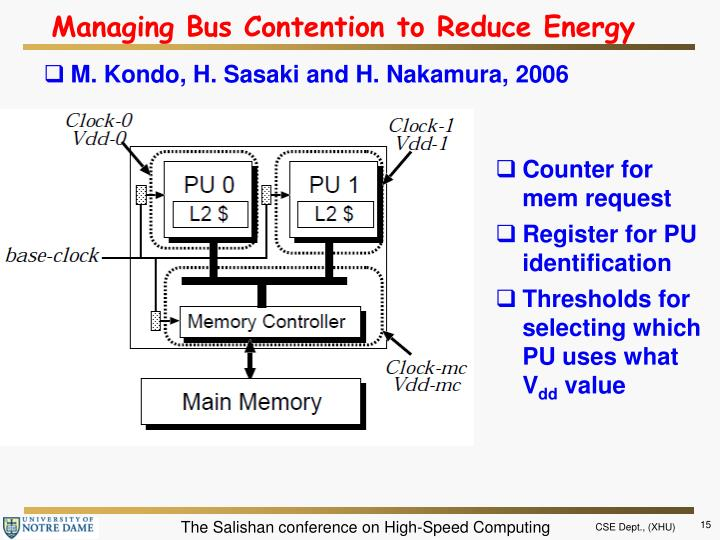 Managing Bus Contention to Reduce Energy
