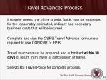 travel advances process