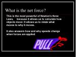what is the net force