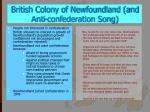 british colony of newfoundland and anti confederation song