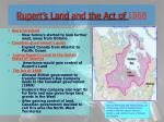 rupert s land and the act of 1868