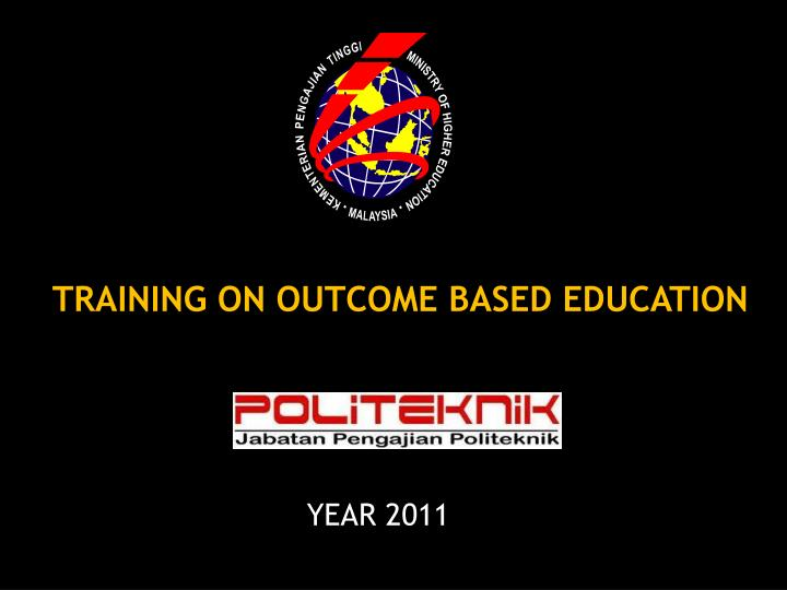 training on outcome based education n.