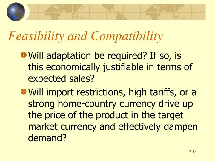 Feasibility and Compatibility