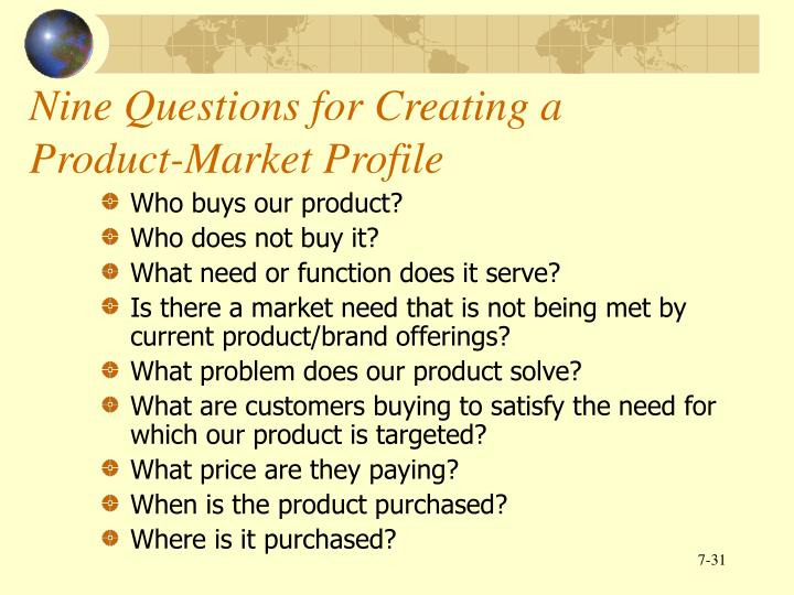 Nine Questions for Creating a